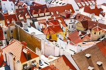 Prague roof tops. Czech Republic