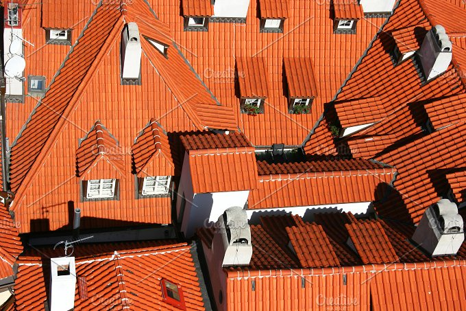 Rooftops. Prague, Czech Republic - Architecture