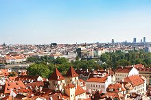 Prague Roofs. Czech Republic