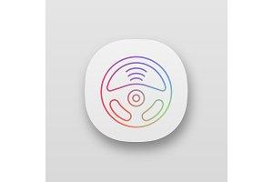 Autonomous car app icon