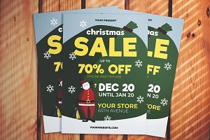 Christmas Santa Sale Flyer