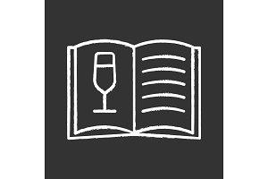 Wine menu chalk icon