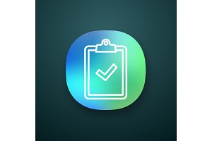 Clipboard with check mark app icon