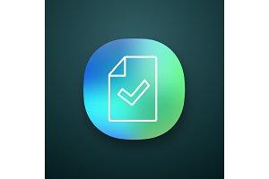 Document verification app icon