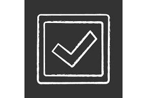 Checkbox chalk icon