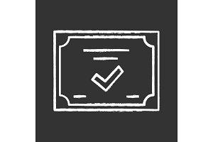 Certificate chalk icon