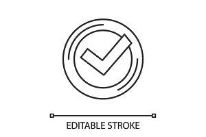 Checkmark linear icon