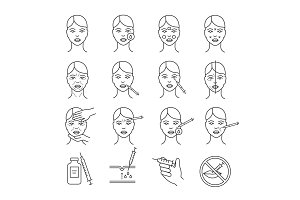 Neurotoxin injection procedure icons