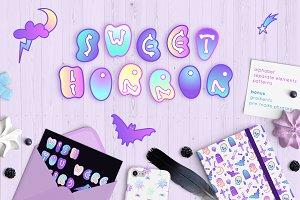 sweet horror :: alphabet & elements