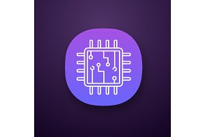 Computer chip app icon