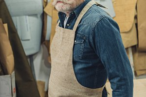 confident middle aged male craftsman