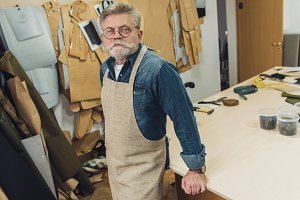 serious middle aged male craftsman i