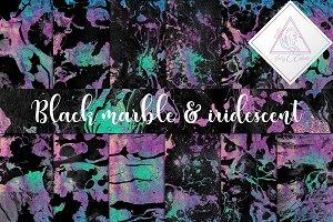 Black Marble & Iridescent Paper
