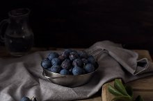 Blue blackthorn or sloe berries on by  in Food & Drink