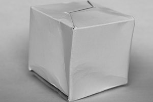 box packet parcel in black and white