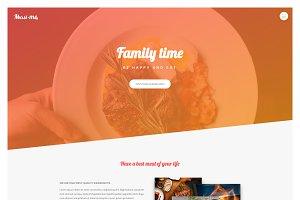 Meat Me - Restaurant Landing Page