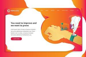 Ferguso - IT Web Header Template