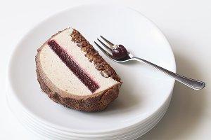 Chestnut Cherry Yule Log Cake
