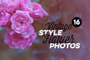 16 Vintage Style Flower Photos