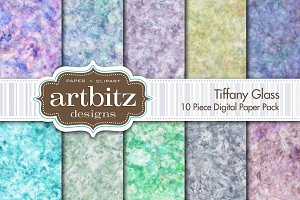 Tiffany Glass Digital Paper
