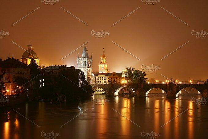 Prague at night. Czech Republic - Architecture