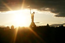 Motherland monument. Kiev, Ukraine