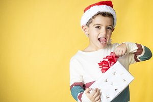 Little kid with a gift