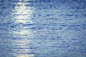 sunlight on the sea