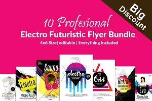 Futuristic 10 Flyer Templates Bundle