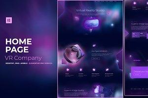 VR Company - Elementor Pro Layout