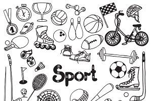 Doodle sport equipment set