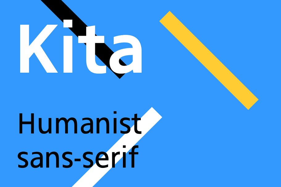 Kita - Humanist sans-serif typeface