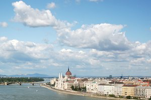 View from across the Danube river