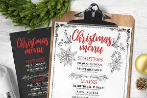 Christmas Menu Restaurant