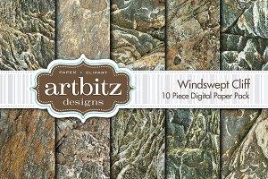Windswept Cliff Digital Paper