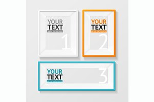 Vector picture frame vector set