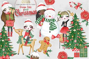 Cute Christmas Girls collection