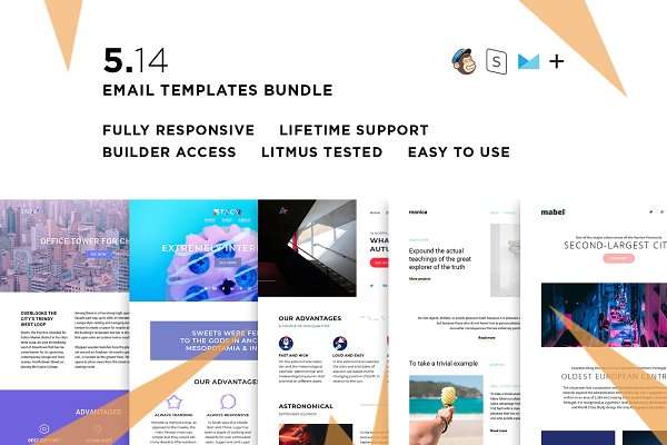5 Email templates bundle XIV