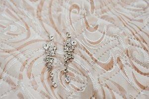 Elegancy wedding brilliant earrings