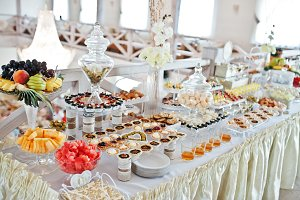 Wedding reception with different swe