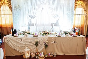 Gorgeous-looking wedding table with