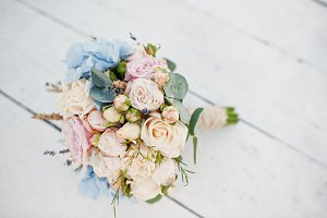 Amazing wedding bouquet made of rose