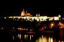 Prague Castle on the river bank