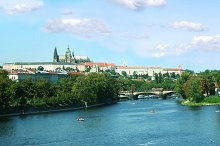 The skyline of Prague.Czech Republi