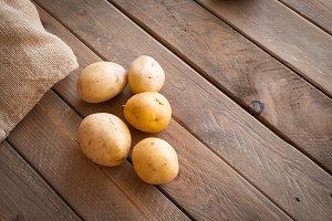Potatoes ready for spanish omelet, v