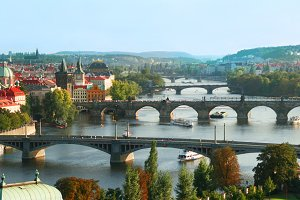 Bridges of Prague. Czech Republic