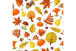 Autumn leaves pattern. Forest yellow