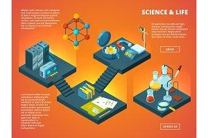 Isometric science lab. Biology
