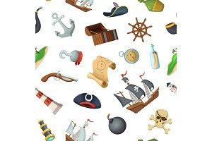Vector cartoon sea pirates pattern