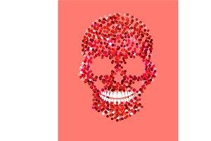 Romantic Skull icon mono colors